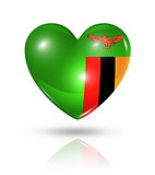 Love Zambia, heart flag icon