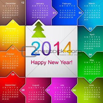 2014 business wall calendar