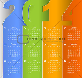 2014 business wall calendar