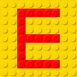 Letter E in construction kit.