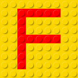 Letter F in construction kit.