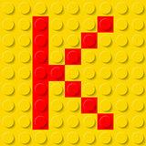 Letter K in construction kit.