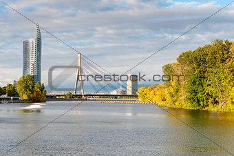 Cable stayed bridge across Daugava