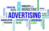 word cloud - advertising