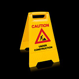 Under construction sign for website design,  (with clipping work path)