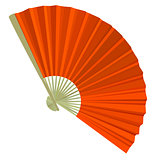 traditional Folding Fans. Vector illustration.