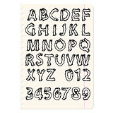 Hand drawing alphabet vector illustration set in black ink
