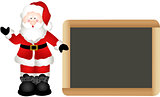 Christmas Santa Claus with School Board