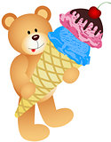 Teddy Bear with Ice Cream Cone