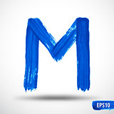 Alphabet Letter M. Watercolor Alphabet. Vector Background