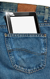 Tablet Computer in a Pocket of Blue Jeans