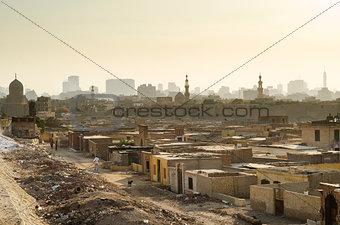 city of the dead slum in cairo egypt