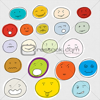 20 Various Cartoon Faces