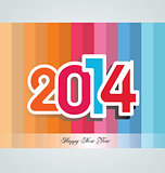 Happy New Year 2014 - Illustration
