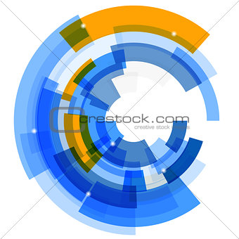 Abstract retro technological background