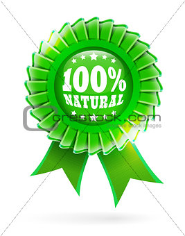 100% natural green label