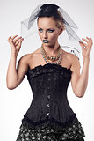 woman with fashion gothic style
