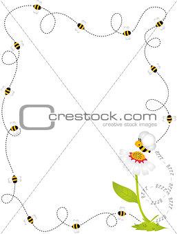 Bee Border Frame
