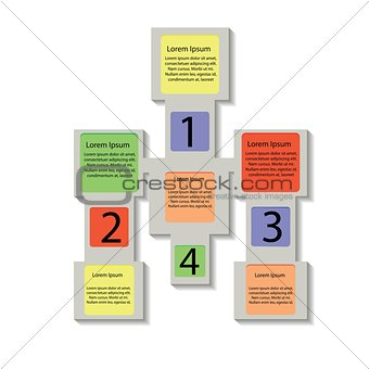 abstract square info graphic business elements