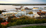 September evening view of the oldest part Nizhny Novgorod