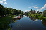barges on the Barrow river,