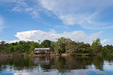 Small hut on the Amazon river