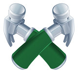 Crossed hammers icon