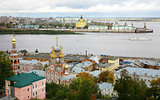 September view of colorful autumn Nizhny Novgorod