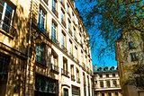 antique city building in paris