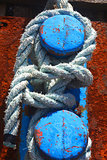 rope secured to dock stanchion