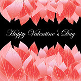 floral background with Valentine's day
