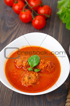 Three roasted meatballs