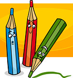 funny crayons cartoon illustration