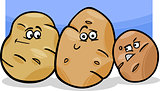 potatoes vegetable cartoon illustration