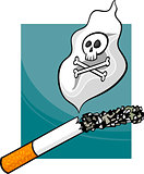 smoking harms cartoon illustration