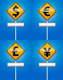 Dollar, Euro - Money traffic board