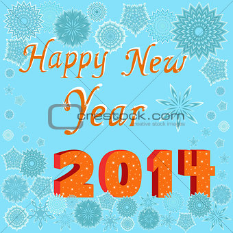 Greeting card Happy New Year 2014