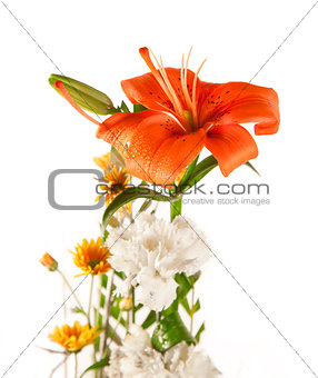 Beautiful Bouquet of Lily and white flower