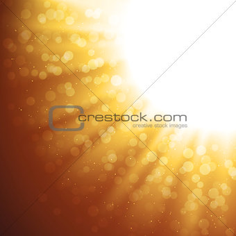 Abstract Gold Magic Light Vector Background