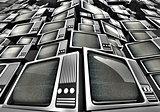 3D render of Vintage television pile.