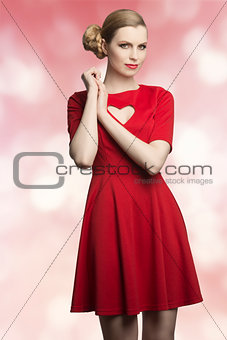 lovely woman with romantic dress