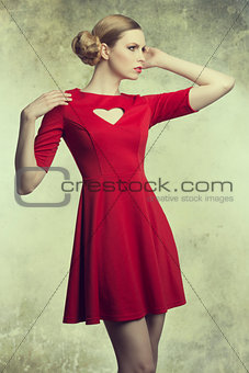 fashion girl with romantic style