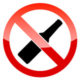 No alcohol vector sign
