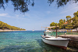 Tranquil Beach Lagoon on Hvar Island, Croatia