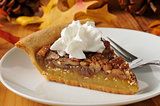 Pecan pie with whipped cream