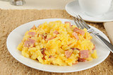 Diced ham and au gratin potatoes