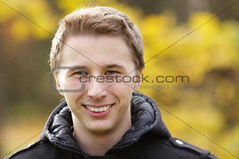 Young attractive man outdoor portrait