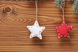 vintage christmas decorative stars hanging