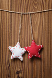 vintage stars hanging on rope
