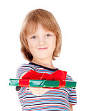 Boy Holding out a Present